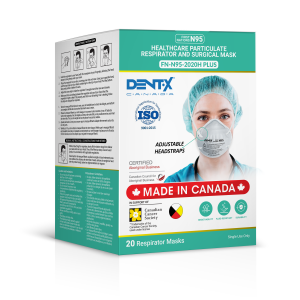 Dent-X Canada FN-N95-2020H PLUS Disposable Mask, AW Sales, Calgary AB